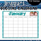 Seesaw Calendar   January Digital Calendar