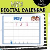Seesaw Calendar   May Digital Calendar