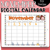 Seesaw Calendar   November Digital Calendar