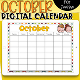 Seesaw Calendar | October Digital Calendar