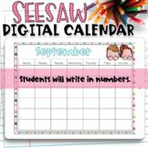 Seesaw Calendar   September Digital Calendar