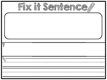 Seesaw Digital Activity: Fit It Sentence Template