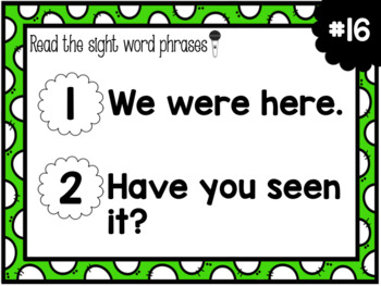 Seesaw Digital Activity: Fry's First 100 Word Phrases