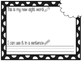 Seesaw Digital Activity: Fry's First 50 Sight Words