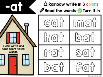 Seesaw Digital Activity: Word Families