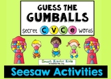 Seesaw Distance Learning - Guess the Gumball CVCe Activities