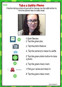 Seesaw 'Getting Started' Task Cards
