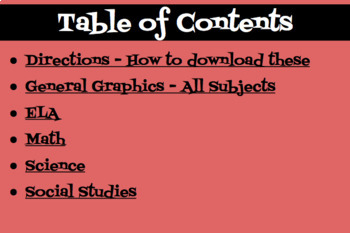 Seesaw Graphic Organizers