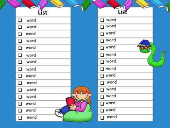 Seesaw High Frequency Word Template