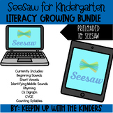 Seesaw Kindergarten Literacy Growing Bundle for Distance Learning
