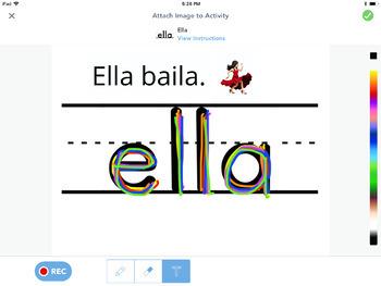 Seesaw Kindergarten Palabras de Alta Frecuencia (Spanish Version