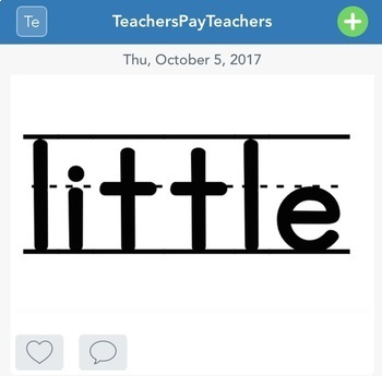 Seesaw Kindergarten Sight Word Practice (Distance Learning)