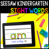 Seesaw Kindergarten Sight Word Practice (Distance Learning)