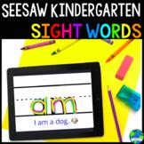 Seesaw Kindergarten Sight Word Practice