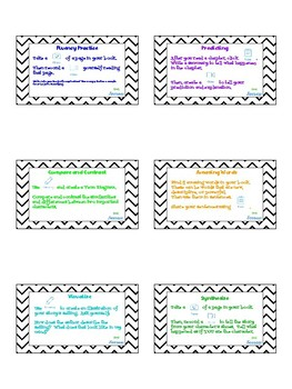 Seesaw Literacy Task Cards