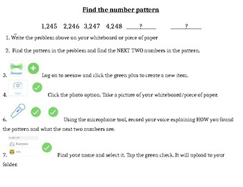 Seesaw Math Task Cards (4th grade)