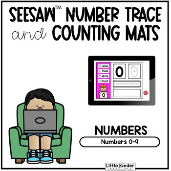 Seesaw™ Number Trace and Count Writing Mats | Distance Learning