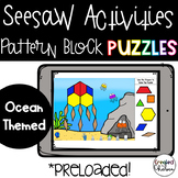 Seesaw Pattern Block Puzzles- Ocean Themed