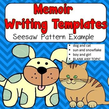 Seesaw Pattern Memoir Writing Templates