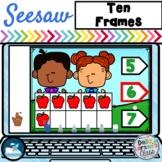 Seesaw Preloaded Apple Ten Frames Math Center