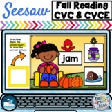 Seesaw Preloaded Fall Reading CVC and CVCE Words