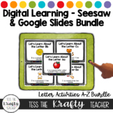 Seesaw Preloaded Letter Activities Bundle | Distance Learning
