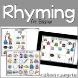 Seesaw Preloaded | Rhyming Activities