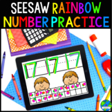 Seesaw Rainbow Number Practice (Distance Learning)