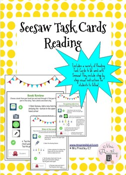 Seesaw Reading Task Cards