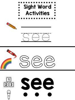 Seesaw Sight Word Activities List 1 (Wonders Aligned)