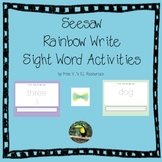 Seesaw Sight Word Rainbow Writing