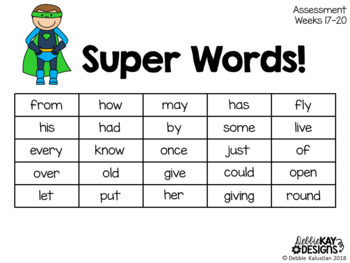 Sight Words Assessments using SEESAW