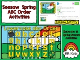 Seesaw Spring Uppercase and Lowercase ABC Order Activities