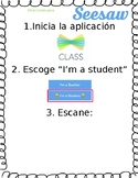 Seesaw Student Directions in Spanish - Add your QR Code