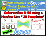Seesaw Subtraction 0-20 Using a Number Line PNG Templates English Version
