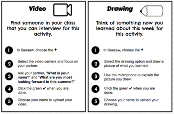 Seesaw Task Cards