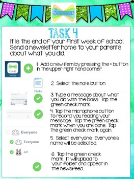 Seesaw Activity Task Cards