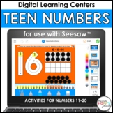 Seesaw Teen Numbers Activities: Numbers 11-20 - Distance Learning
