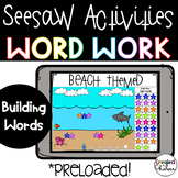 Seesaw Word Work- Building Sight Words: Beach Themed
