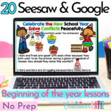 Seesaw Activities - Back to school distance learning - Soc
