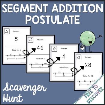 Segment Addition Postulate Activity - Scavenger Hunt
