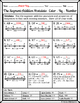 Segment Addition Postulate Color-By-Number Wintery Worksheet