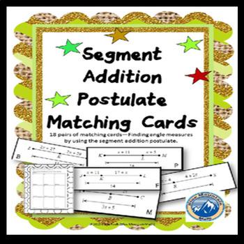 Segment Addition Postulate Matching Card Set