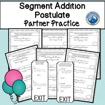 Segment Addition Postulate Partner Practice