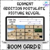 Segment Addition Postulate Picture Reveal Boom Cards--Digi