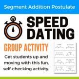 Segment Addition Postulate Speed Dating Activity