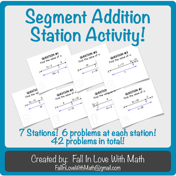 Segment Addition Postulate Station Activity!