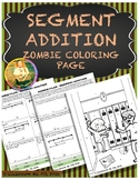 Segment Addition ~ Zombie Coloring Page