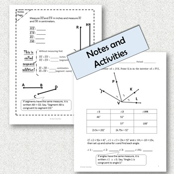 Segment Addition and Angle Addition {With Task Cards}