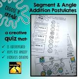 "Segment & Angle Addition Postulate Quiz / Practice Activity: ""Choose & Create"""